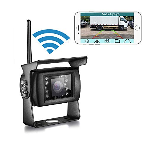 WiFi Wireless Backup Camera Reversing Camera IP68 Waterproof Rearview Camera Hitch Camera for Trucks,Trailers,Camping Car,RV,SUV with Smart APP Intelligent Compatible with iPhone/Ipad and Android