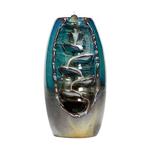 Bestlle Rückfluss Räuchergefäß Halter Keramik Wasserfall Rauch Räucherstäbchenhalter für Wohnzimmer Dekorationen Aromatherapie Diffusoren Ornament Wohnkultur