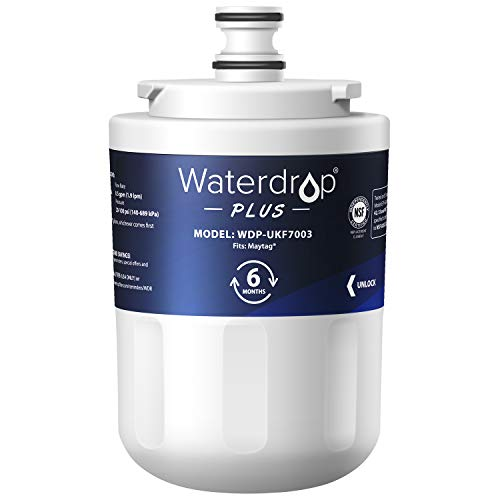 Waterdrop UKF7003 Refrigerator Water Filter NSF 401&53&42 Certified, Replacement for Maytag UKF7003AXX, UKF7002, UKF7001, UKF6001, UKF5001, Whirlpool EDR7D1, EveryDrop Filter 7