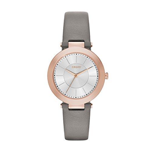 DKNY Damen Analog Quarz Uhr mit Leder Armband NY2296