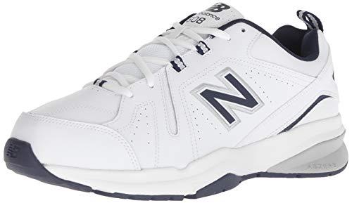 New Balance mens 608 V5 Casual Comfort Cross Trainer, White/Navy,...