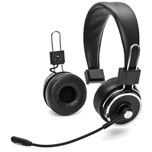 Blue Tiger Elite Plus Premium Single and Dual Ear Wireless Headset  Professional Truckers Noise Cancellation Head Set with Microphone  Long Battery Life, No Wires - 34 Hour Talk Time