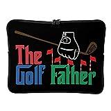 Bolsas de ordenador portátil de golf estándar para golf, peso ligero, fundas para portátiles de golfista, adecuadas para exteriores, blanco (Blanco) - BTJC88-DNB-8