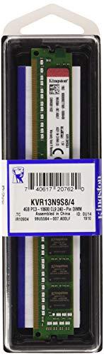 Kingston KVR13N9S8/4 Memoria RAM da 4 GB, 1333 MHz, DDR3, Non-ECC CL9 DIMM, 240-pin, 1.5 V