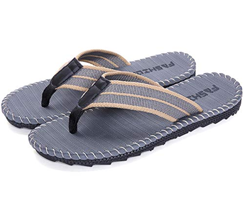 Chanclas para Hombre, Sandalias Deportivas Verano Exterior con Punta Abierta Playa Piscina Zapatos Impermeables (Gris, EU43)