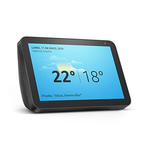 Presentamos el Echo Show 8: una pantalla inteligente HD de 8 pulgadas con Alexa, tela de color antracita