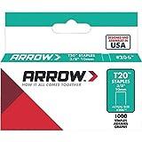 Arrow Fastener 206 Genuine T20 3/8-Inch Staples, 1,000-Pack