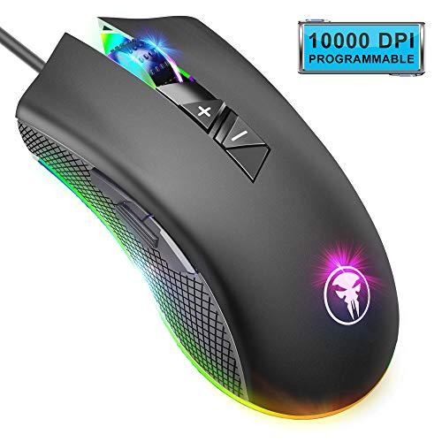 Yocktec RGB Retroiluminación Ratón Gaming Óptico, 8 Botones Programables...