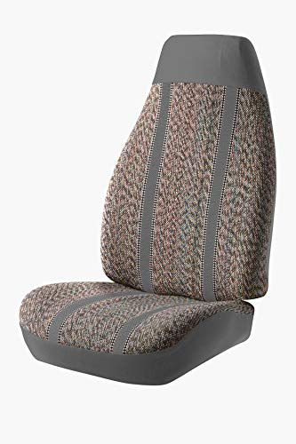Fia TR49-1 GRAY Custom Fit Front Seat Cover Split Seat 40/20/40 - Saddle Blanket, (Gray)