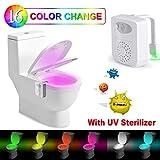 Lampe Toilette Veilleuse –Rantizon Lampe Toilette LED Détecteur avec Désinfection...