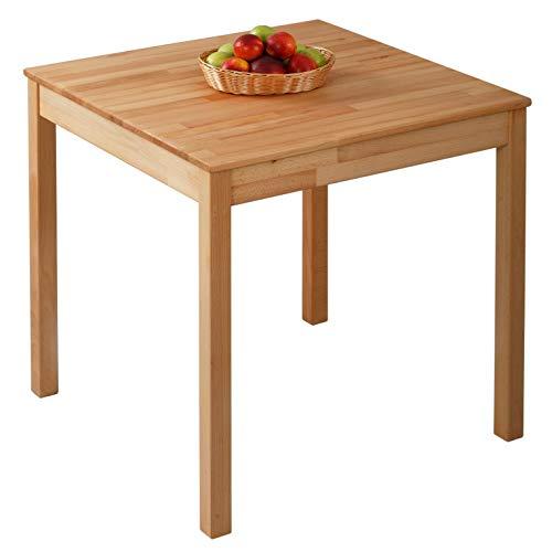 Krok Wood Tavolo da pranzo Tomas in Legno Massello in Faggio 75x75x75 cm
