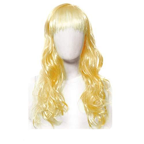 Acessorio peruca longa loiro c/1 un