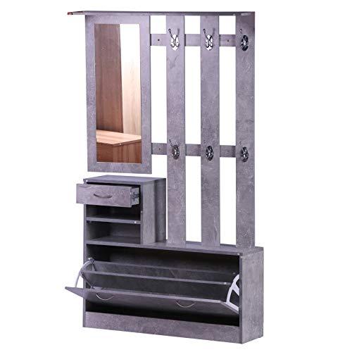 HOMCOM Conjunto de Muebles de Entrada Recibidor Pasillo Set...