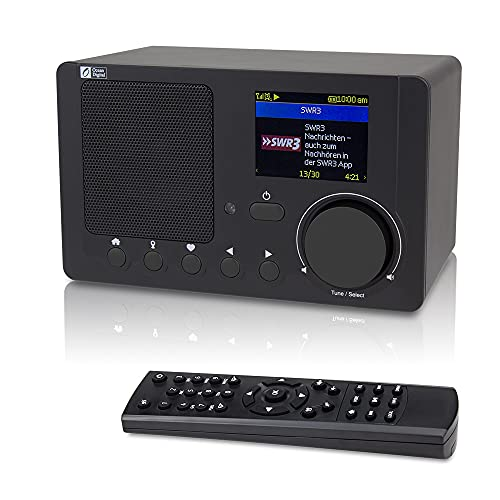 Ocean Digital Radio Internet WR-210N WiFi Bluetooth sans Fil Lecteur Couleur Affichage - Noir
