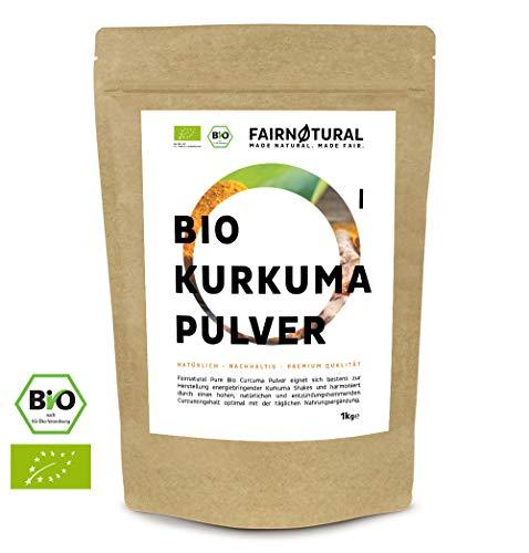 BIO Kurkuma Pulver 1Kg I Reines Curcuma gemahlen mit hohem Curcumin Anteil I Curcuma-Pulver mit erlesener Qualität (1000g)
