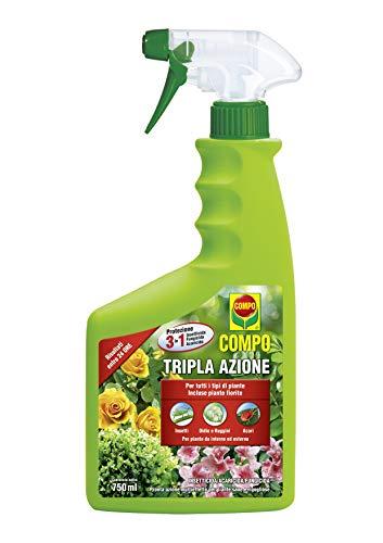 COMPO Tripla Azione, Spray Insetticida, Fungicida, Acaricida, Pronto all'Uso, per la Protezione di Piante Ornamentali e da Fiore di Tipo arbustivo ed erbaceo, 750 Ml