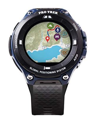 "Casio Men's ""Pro Trek"" Outdoor GPS Resin Sports Watch, Color: Black & Indigo Blue (Model WSD-F20A-BUAAU)"