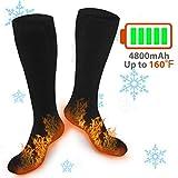 XBUTY Heated Socks for Women Men, Rechargeable Electric Socks Battery Heated Socks, Cold Weather Thermal Socks Sport Outdoor Camping Hiking Ski Warm Winter Socks
