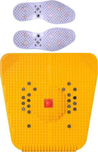 NETCLUB Acupressure Foot Mat For Stress And Pain Relief + Acupressure Shoe Sole Massager fitness mat fitness kit advance home gym mini