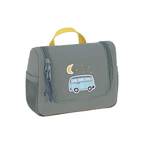 LÄSSIG Kinder Kulturtasche Waschbeutel Waschtasche Kulturbeutel zum Hängen, 20 cm/Mini Washbag Adventure Bus, Petrol