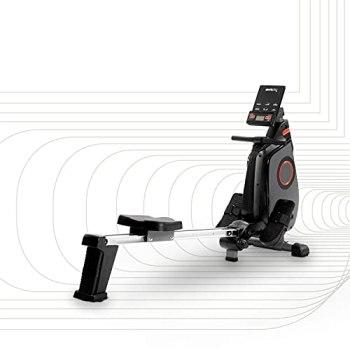 SportPlus rameur pliable, système de freinage magnétique, 24 niveaux de résistance, ordinateur, app, silencieux, siège avec roulement à billes, masse d'inertie 8 kg, jusqu'à 150 kg, SP-MR-030-iE
