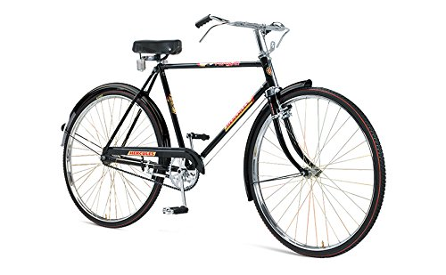 Hercules Roadsters Popular Unisex Road Bike DTS Bicycle, Wheel Size: 30 inches, Frame Size: 22 inches, Unisex-Youth, Black