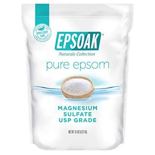 Epsoak Epsom Salt 19 lb. Bulk Bag Magnesium...