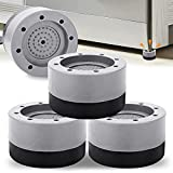Anti Vibration Pad for Washer Dryer - 4 Pack Washing Machine Feet Stabilizer Rubber Pads to Noise Reducing, Stop Shaking, Non Slip