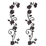 2pcs Pegatinas Pared Vinilos Adhesivos Decorativos Pared Stickers Pared Flores DIY para Salón...
