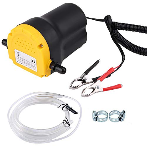 Oil Change Pump Extractor, 12v 60w Oil Extractor Pump Oil Pump Extractor, Diesel Fluid Scavenge Suction Oil Transfer Pump for Changing Oil, Oil Change Pump for Boat, Tubes, Truck, RV, ATV, Riding Mowe