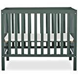 Dream On Me Edgewood 4-in-1 Convertible Mini Crib in Olive