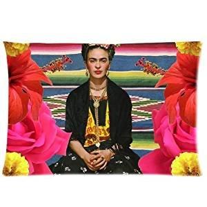 Frida Kahlo-dos caras Rectángulo de almohada decorativa con cremallera funda de almohada Funda de almohada 20x 30Inche