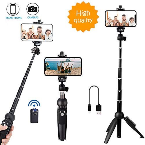 Bluehorn All in one Portable 40 Inch Aluminum Alloy Selfie Stick Phone Tripod with Wireless Remote Shutter for iPhone 11 pro Xs Max Xr X 8 7 6 Plus, Android Samsung Smartphone Vlogging Live Stream