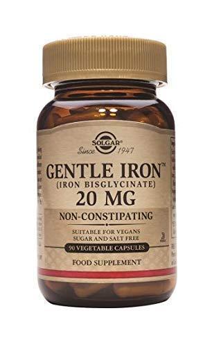 Solgar® Gentle Iron (Bisglicinato de hierro) 20 mg Cápsulas...