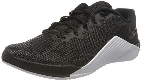 Nike Wmns Metcon 5, Zapatillas de Running para Asfalto Mujer, Multicolor (Black/Black/White/Wolf Grey 010), 39 EU