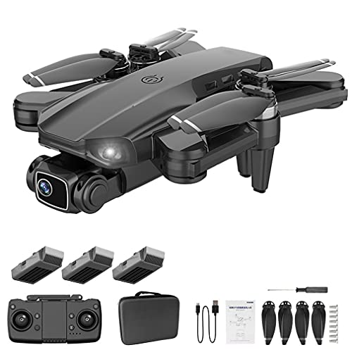 L900 PRO GPS 4K Professionale 5G WiFi FPV Drone Brushless Quadcopter 1.2km Nero 3 * Batterie, Custodia