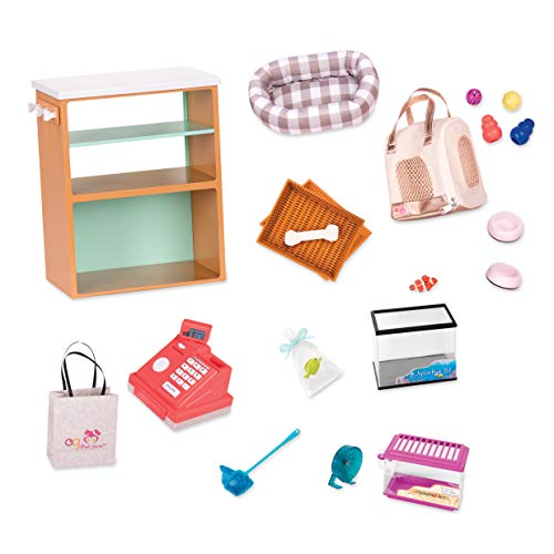 Our Generation- Pet Store Set- Toys, Accessories & Playsets for 18' Dolls- Ages 3 Years & Up
