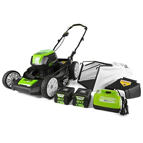 Greenworks GLM801601 21-Inch 80V Cordless Push Lawn Mower,...