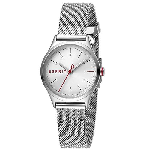 Esprit Damen Analog Quarz Uhr mit Edelstahl Armband ES1L052M0055