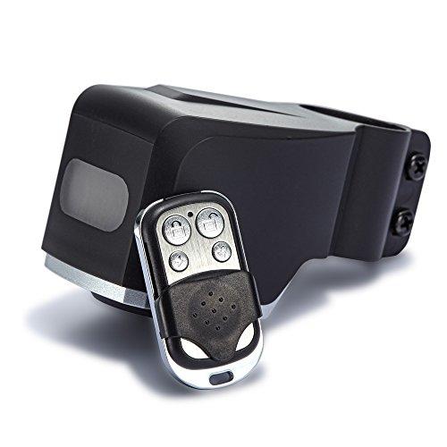 achilles Fahrrad Alarm, Fahrradalarmanlage mit Fernbedienung, Diebstahl-Schutz, schwarz, 12 x 6 x 6 cm