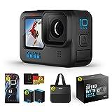 【国内正規品 2年無料保証】GoPro HERO10 Black アップグレード アクションカメラ ゴープロ 人気アクションカム (HERO10Black本体+認定SDカード(64GB) + 予備バッテリー+2年無料保証+ギフトボックス+大容量バック)
