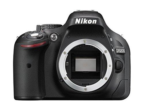 Nikon D5200 Body Fotocamera SLR Digitale, 24.1 Megapixel, Display TFT da 7.6 cm (3 Pollici), Full HD, HDMI, Colore Nero [Versione EU] (Ricondizionato Certificato)