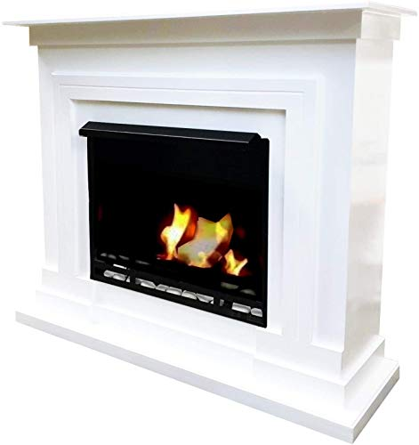 Kaminbau Mierzwa Berlin Deluxe Gel Fireplace Ethanol Fireplace Stove with Ethanol Burner and Decorative Stones