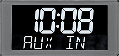Product Image 4: Sangean RCR-20 FM-RDS (RBDS) AM / Bluetooth / Aux-in / USB Phone Charging Digital Tuning Clock Radio with Battery Backup, Black, 13.8x 13.1x 4.9