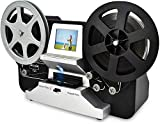 8mm & Super 8 Reels to Digital MovieMaker Film Sanner Converter, Pro Film Digitizer Machine with 2.4' LCD, Black (Convert 3 inch and 5 inch 8mm Super 8 Film reels into 720P Digital) with 32 GB SD Card