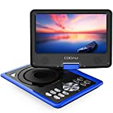 COOAU Portable DVD Player 11.5' with Game Joystick, Swivel HD Screen, Support Multi-Format, Region Free, Long Lasting Battery, Support AV-in/AV-Out/SD/USB, Blue