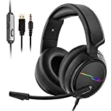 Jeecoo Xiberia Stereo Gaming Headset for PS4, Xbox One S - Noise Cancelling Over Ear Headphones with...
