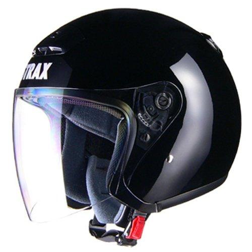 リード工業(LEAD) バイクヘルメット ジェット STRAX SJ-4 ブラック BIG 63~64cm未満