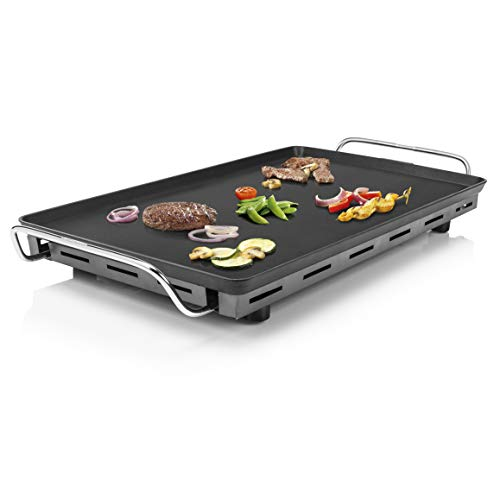 Princess Table Chef XXL - Teppanyaki-Grillplatte, 36 x 60 cm, inklusive 4 Holzspatel, abnehmbares Thermostat, 2500 Watt, 102325