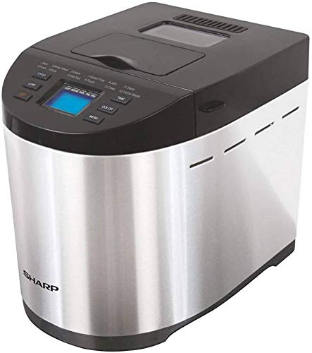 Sharp Table-Top Bread Maker for Home, Kitchen | Fully Automatic Functions | 12 Pre-Programmed Menus...
